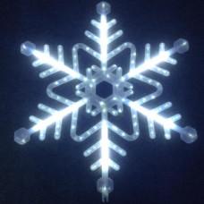 """Мотив снежинка"""" LED Snowflake с контроллером, белая."""""""