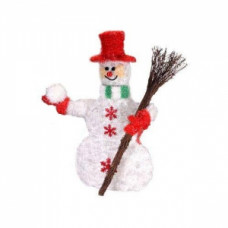 Объемная фигура снеговик со снежком, 50 led.