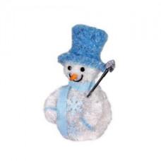 Объемная фигура снеговик в синем, 20 led.