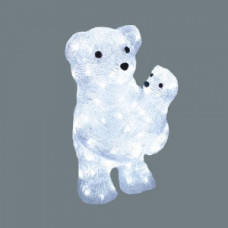 Светодиодная акриловая 3D фигура медвежата, 40 см.