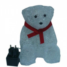 Светодиодная акриловая 3D фигура медвежонок, 35 см.