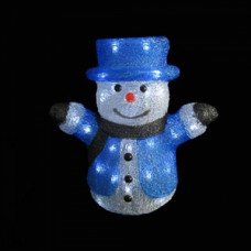 Светодиодная акриловая 3D фигура снеговик, 31 см.