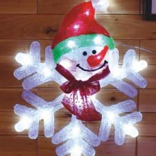 Светодиодная акриловая 3D фигура снежинка.