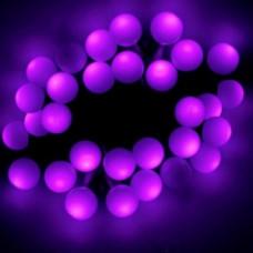 Светодиодная гирлянда шарики, фиолетовая.