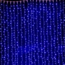 Светодиодный занавес водопад 1200 led, синий.