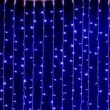 Светодиодный занавес водопад  2160 led, синий.
