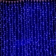 Светодиодный занавес водопад 800 led, синий.