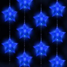 Светодиодный занавес звездочки синий, сш, кон.