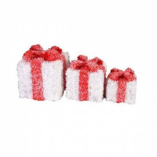 Светящиеся кубы подарок, белые.