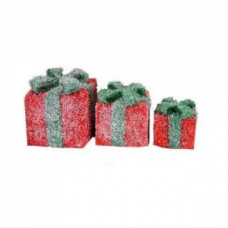 Светящиеся кубы подарок, красные.