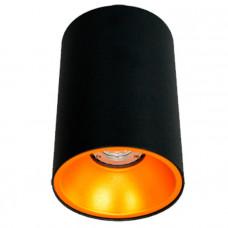 Светильник тубус, накладной круглый WC1301 черный, Svetlon
