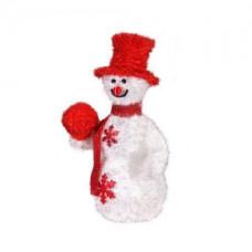 Объемная фигура снеговик в красном, 50 led.
