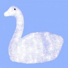 Светодиодная акриловая 3D фигура лебедь