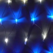 Светодиодная сеть, 2*0,6м, бело-синяя, статика.