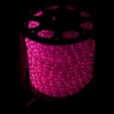 Светодиодный дюралайт 3-х жильн. чейзинг, розовый.