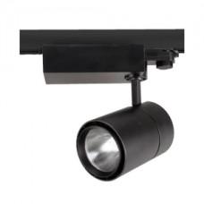 Светодиодный трековый светильник, TR1430 LED 30W, 2700K, черный, Svetlon