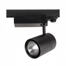 Светодиодный трековый светильник, TR1430 LED 30W, 4200K, черный, Svetlon