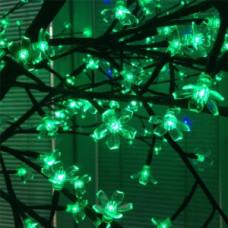 Светодиодное дерево Сакура, зеленый цвет.