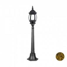 Уличный светильник Прага, 8047 POLE, черно-золотистый, Svetlon.